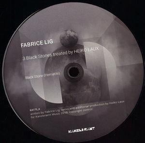 Fabrice Lig - 3 Black Stones treated by Heiko Laux