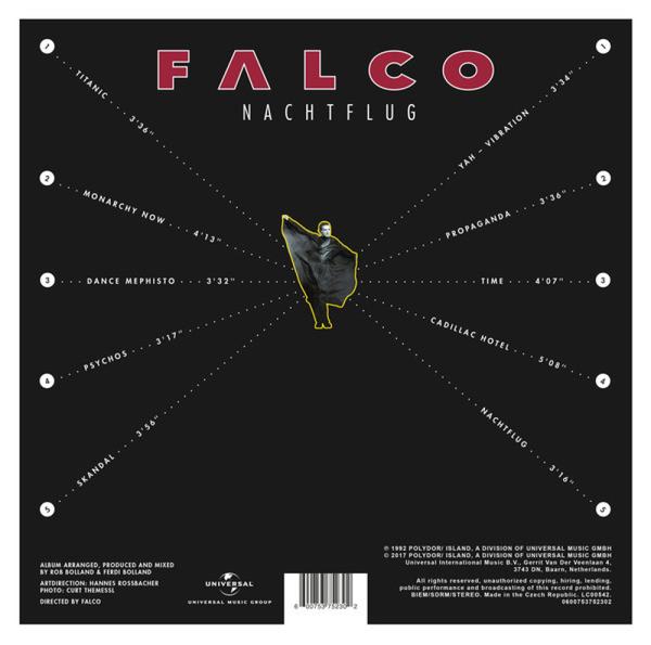 Falco - Nachtflug (Vinyl) (Back)