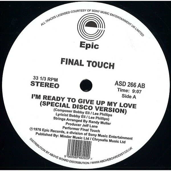 Final Touch - I'm Ready To Give Up My Love (special Disco Versio