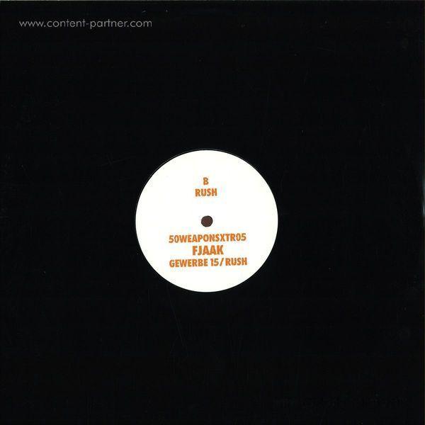 Fjaak - Gewerbe 15 / Rush (White Label 12'') (Back)