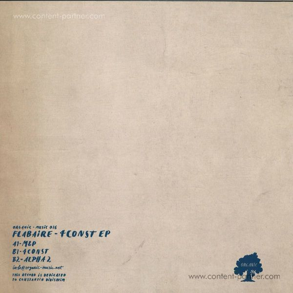 Flabaire - 4Const EP (Vinyl Only) (Back)