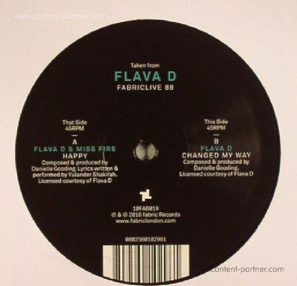 "Flava D - Fabriclive 88: 10"" Sampler (Back)"