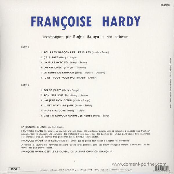 Francoise Hardy - Francoise Hardy (Ltd. numb. Ed. LP, clear vinyl) (Back)