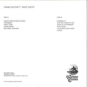 Frank Hatchett - Body Shots [printed sleeve / official re-issue] (Back)