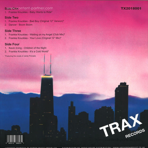Frankie Knuckles Presents - Ultimate Productions (Back)