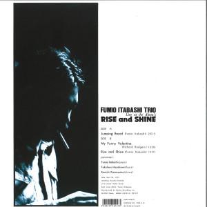 Fumio Itabashi Trio - Rise And Shine – Live At The Aketa's (Back)