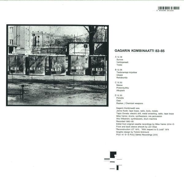 Gagarin Kombinaatti (Mika Vainio) - 83-85 (Back)