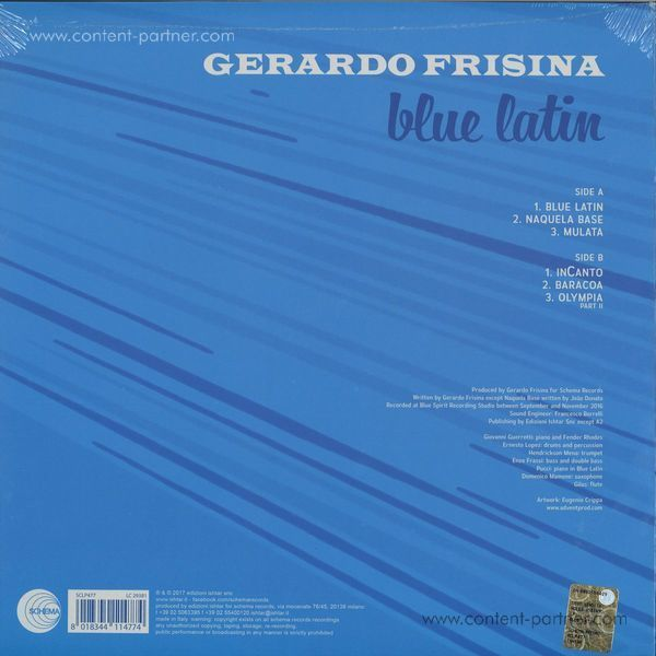 Gerardo Frisina - Blue Latin (LP) (Back)