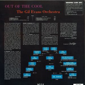 Gil Evans Orchestra - Out Of The Cool (180g Vinyl Reissue) (Back)