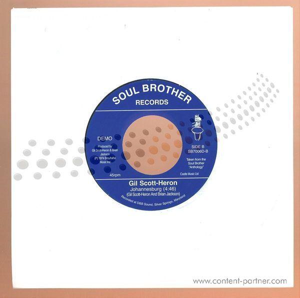 Gil Scott-Heron & Brian Jackson - The Bottle / Johannesburg (Back)
