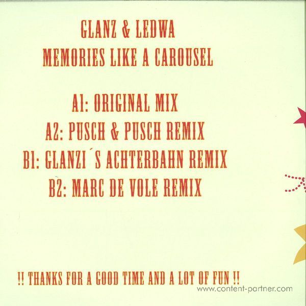 Glanz & Ledwa - Memories Like A Carousel (Back)