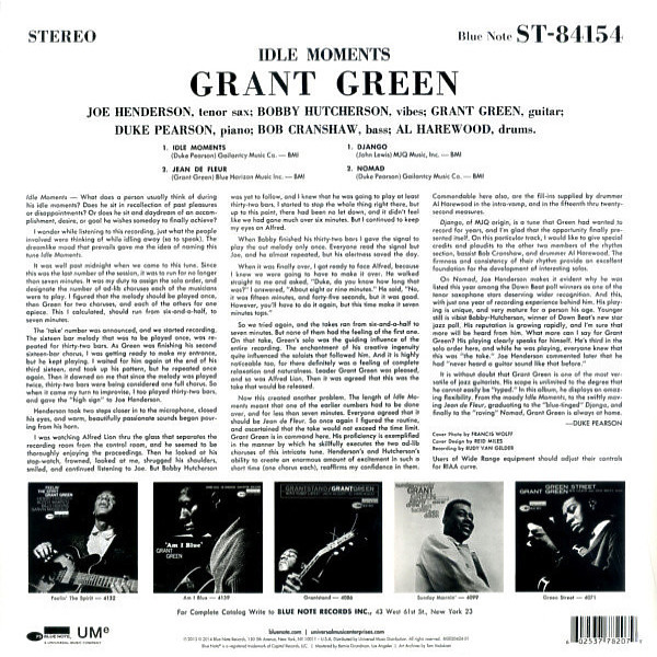 Grant Green - Idle Moments (LP Reissue) (Back)
