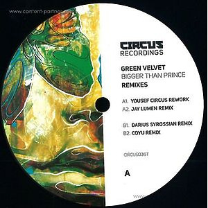 Green Velvet - Bigger Than Prince (remixes) [Black Vinyl]