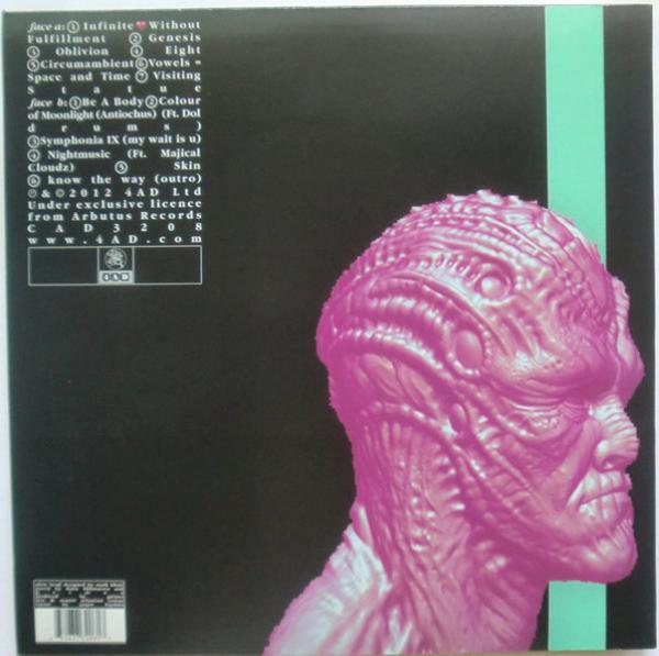 Grimes - Visions (Black Vinyl LP) (Back)