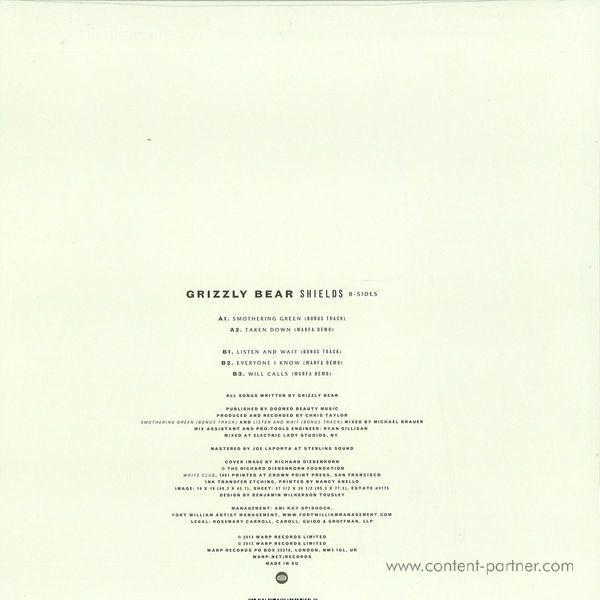 Grizzly Bear - Shields: B-Sides (LP+MP3/180g) (Back)