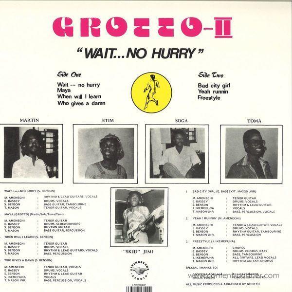 Grotto - Wait... No Hurry (Back)