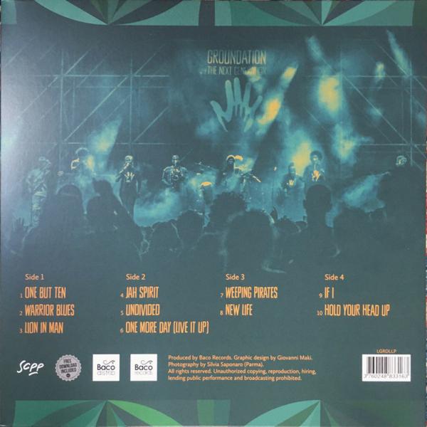 Groundation - The Next Generation Live (2LP) (Back)