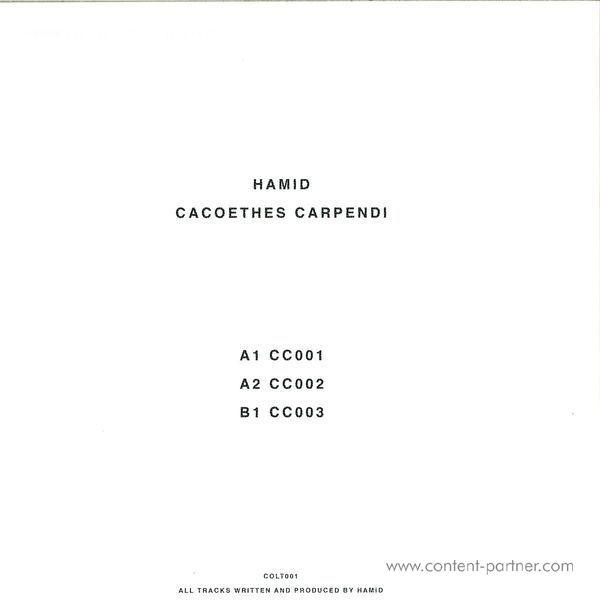 Hamid - Cacoethes Carpendi (Back)
