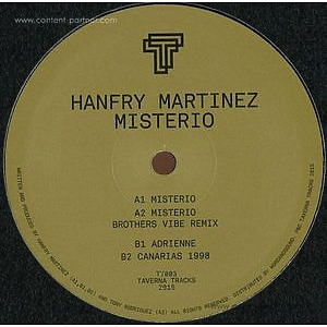 Hanfry Martinez - Misterio (Brothers Vibe Rmx) Vinyl Only