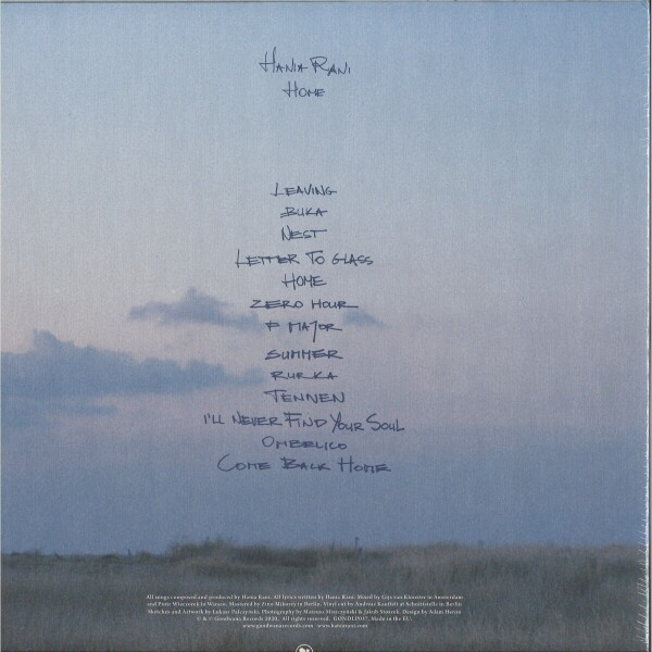 Hania Rani - Home (2LP) (Back)