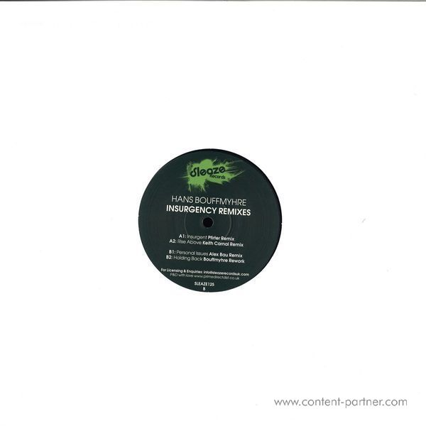 Hans Bouffmyhre - Insurgency Remixes (Back)