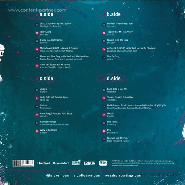 Hardwell - Revealed Vol. 6 - 180g Vinyl (Back)