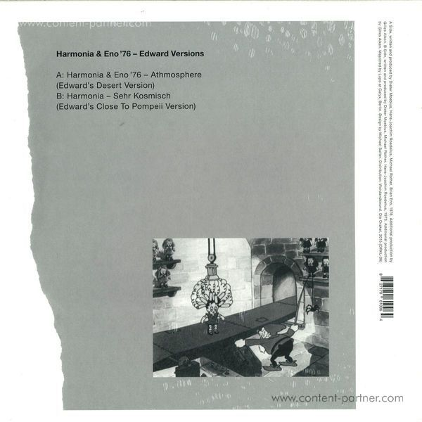 Harmonia & Eno - 76 Edward Versions (Vinyl Only Release) (Back)