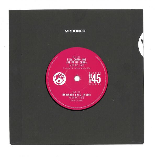 """Harmony Cats - Harmony Cats' Theme / Seja Com (7"""" Vinyl) (Back)"""