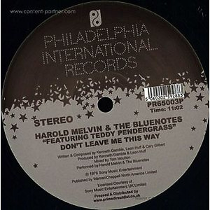 Harold Melvin & The Blue Notes Feat. Teddy Penderg - Bad Luck / Don't Leave Me This Way (tom Moulton Mi