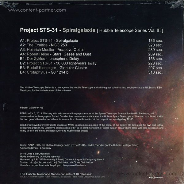 Heinrich Mueller & The Exaltics - Presents Project Sts-31 - Spiralgalaxie (Back)
