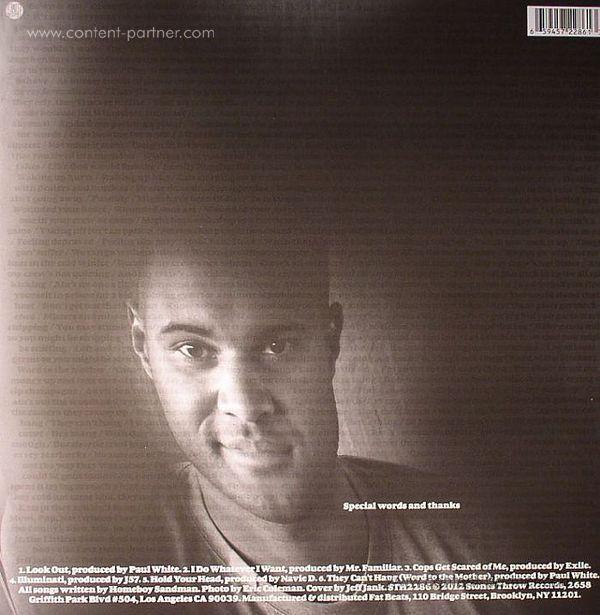Homeboy Sandman - Chimera EP (Back)