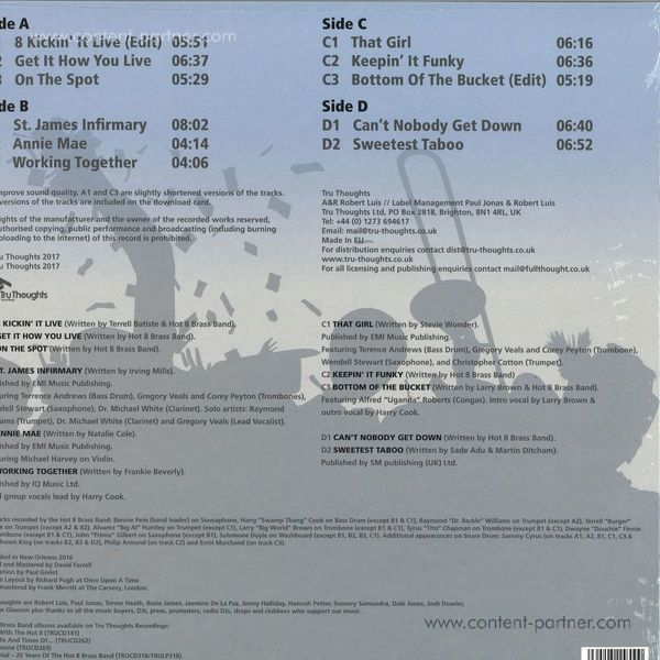 Hot 8 Brass Band - On The Spot (2LP+MP3) (Back)