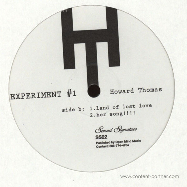 Howard Thomas - Experiment #1 (Repress) (Back)