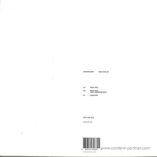Hunter/Game - Dead Soul EP (Back)