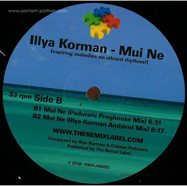 Illya Korman - Mui Ne (Christian Paduraru Remix) (Back)