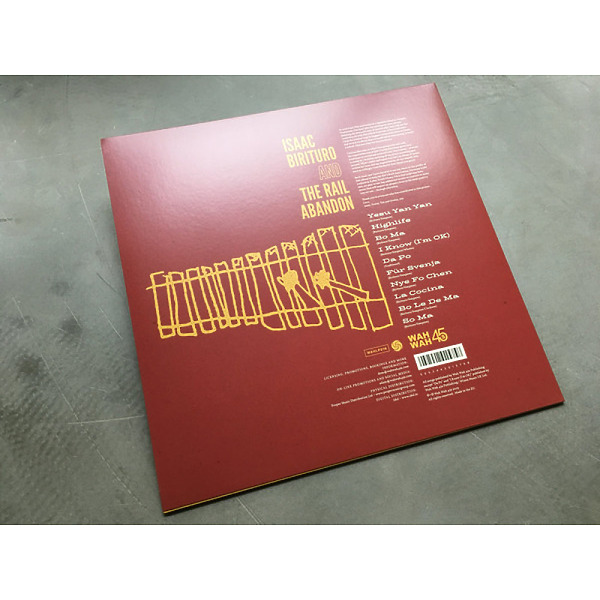 Isaac Birituro & The Rail Abandon - Kalba (Vinyl LP) (Back)