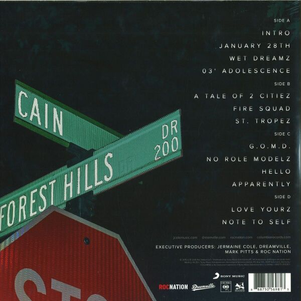 J. Cole - 2014 Forest Hills Drive (Back)