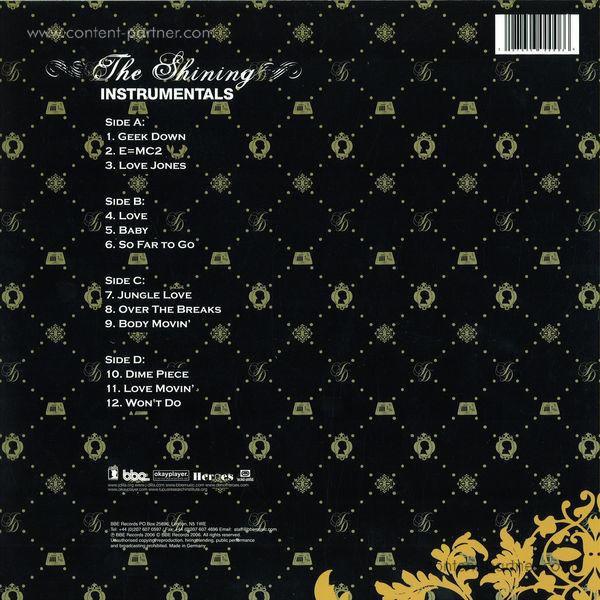 J Dilla - The Shining (Instrumentals Repress) (Back)
