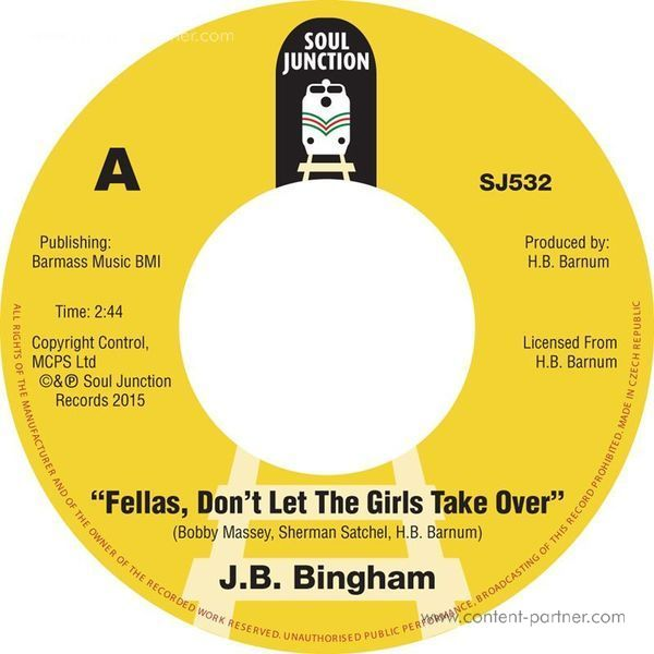 J.B. Bingham - Fellas, Don't Let The Girls Take Over