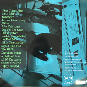 J-Live - All Of The Above (Blue Vinyl LP Reissue) (Back)