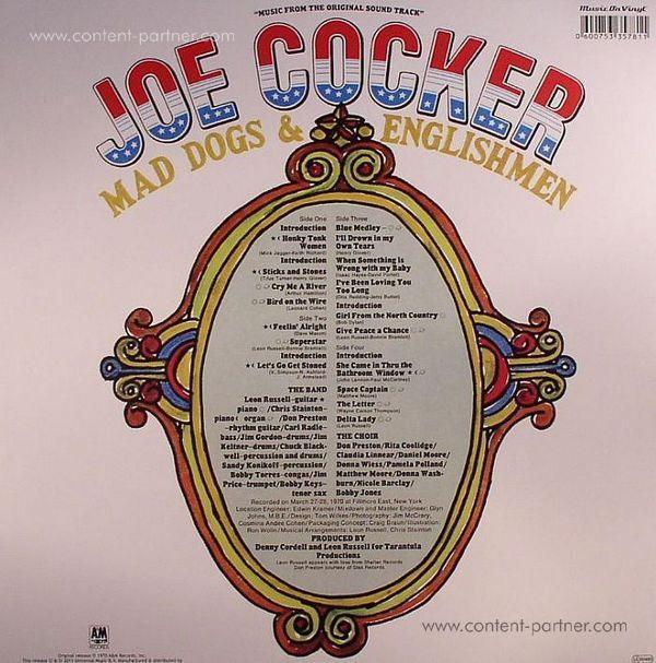 JOE COCKER - mad dogs & englishmen (Back)