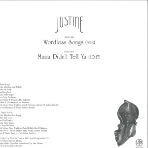 JUSTINE - WORDLESS SONGS (Back)