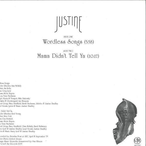JUSTINE - WORDLESS SONGS (Back)