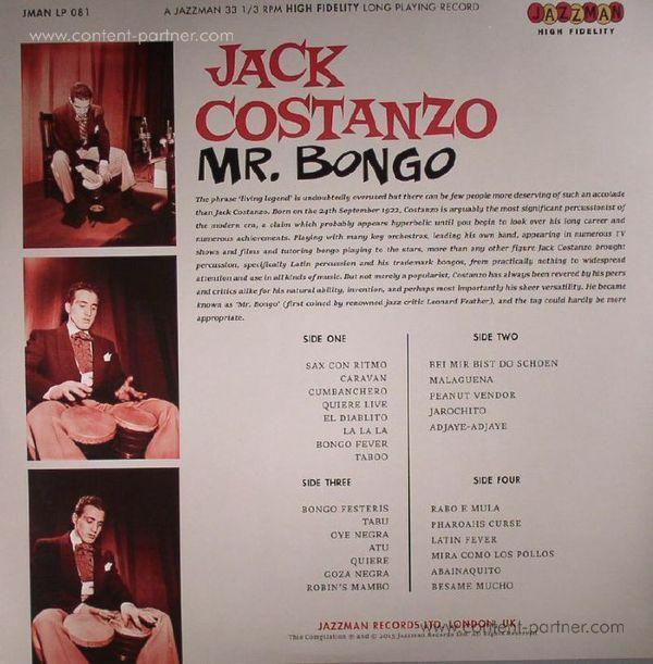 Jack Costanzo - Mr. Bongo (2LP Gatefold) (Back)