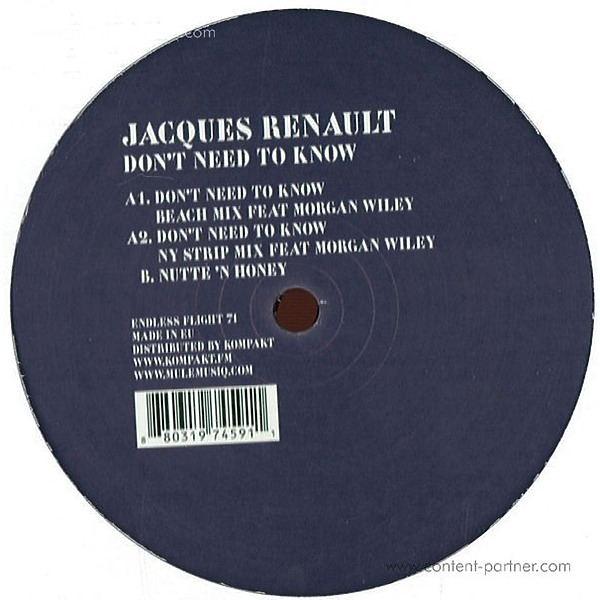 Jacques Renault - Don't Need To Know