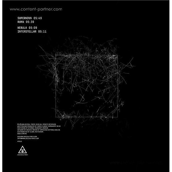 James Shinra - Supernova EP (Back)