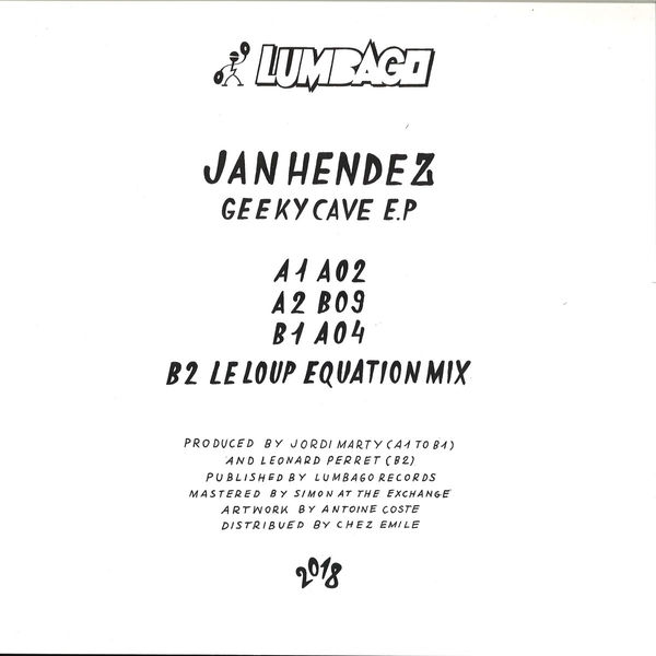 Jan Hendez - Geeky Cave EP (Back)