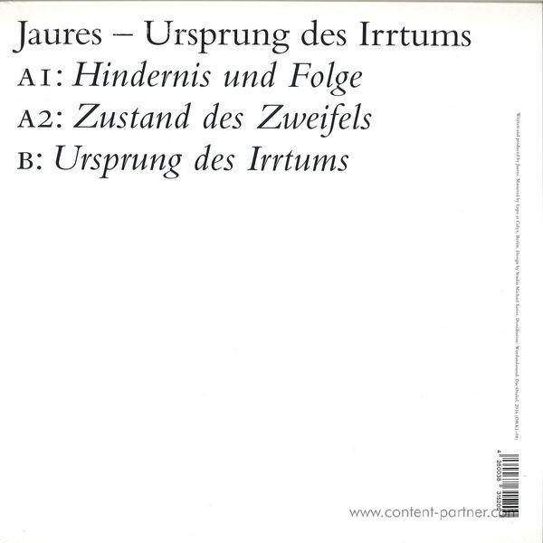 Jaures - Ursprung Des Irrtums (Back)