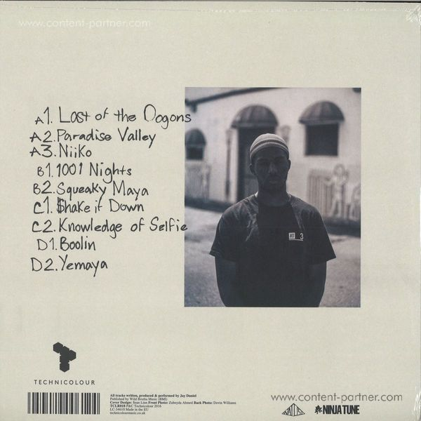 Jay Daniel - Broken Knowz (2lp+mp3) (Back)