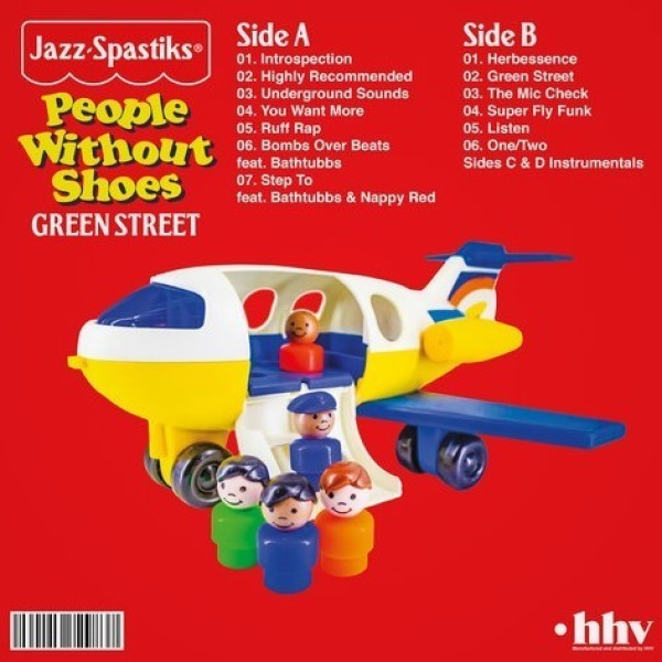Jazz Spastiks & People Without Shoes - Green Street (Black Vinyl Edition 2LP) (Back)